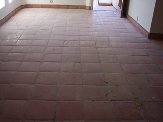 The flooring in Mesa Arizona is dull and faded prior to service