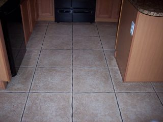 Floor Grout Before