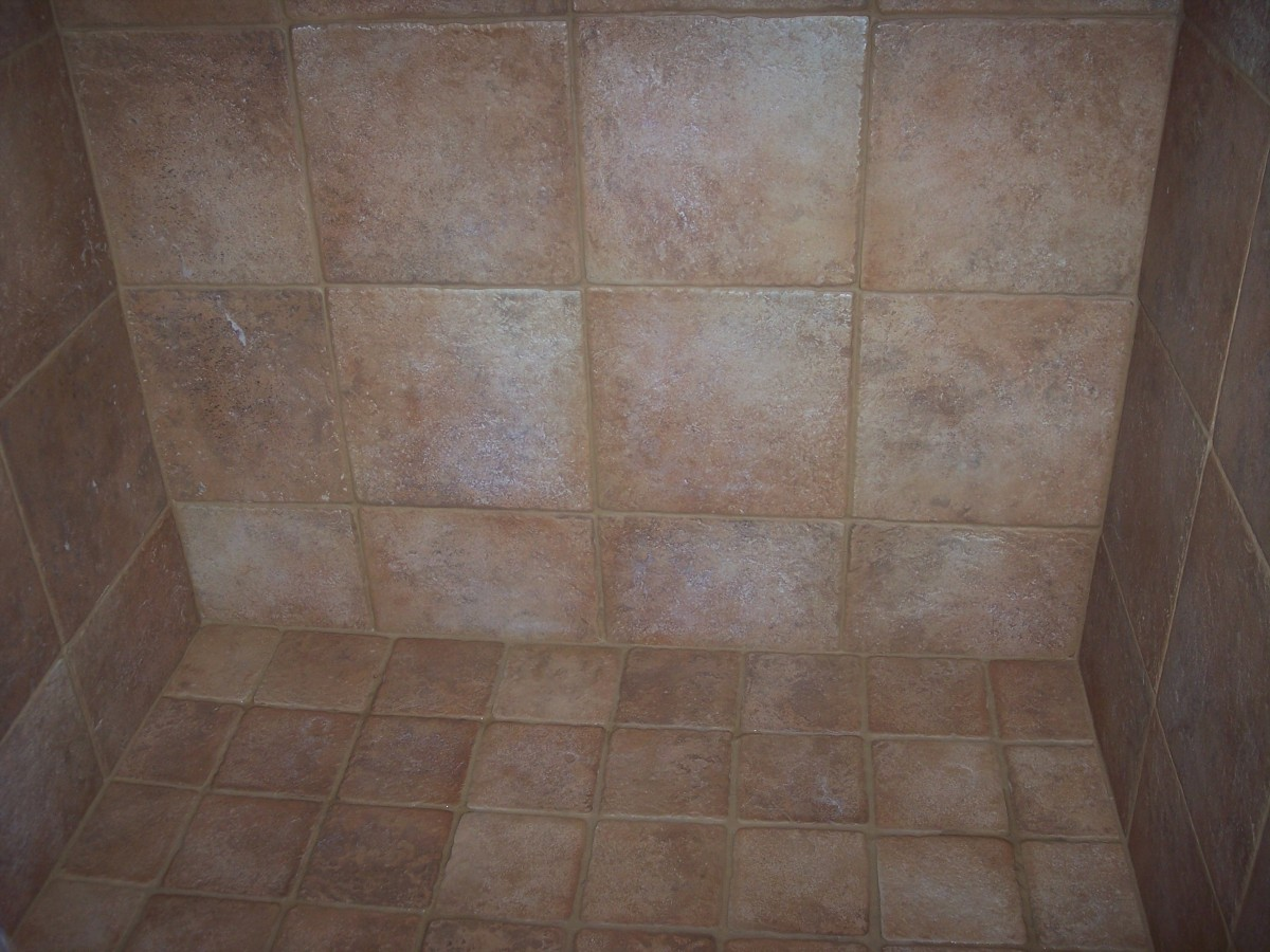A shower in Tempe AZ after cleaning by Desert Tile and Grout Care