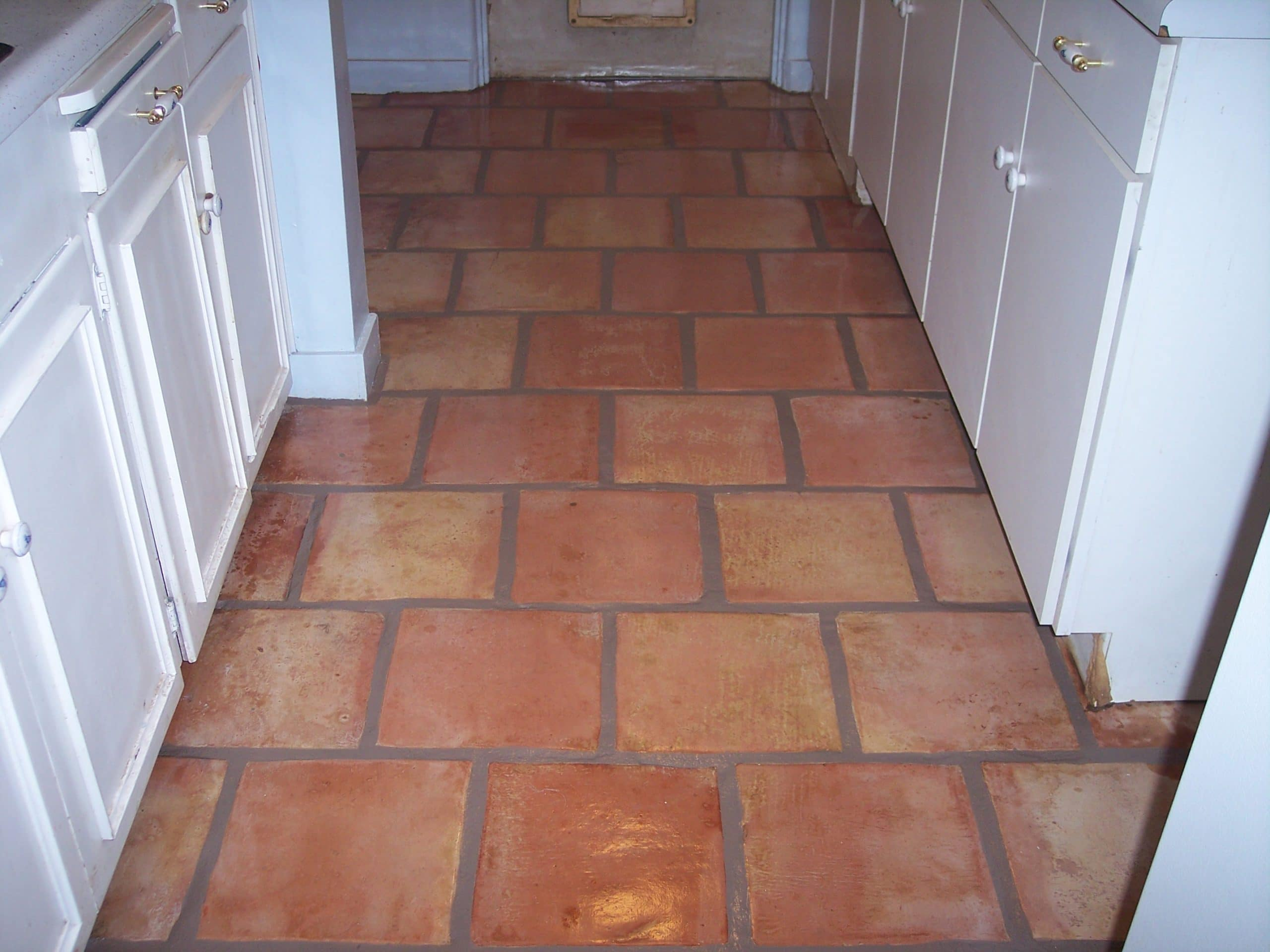 Mexican tile cleaning desert tile grout care restored mexican saltillo tile kitchen floor in scottsdale arizona home dailygadgetfo Gallery