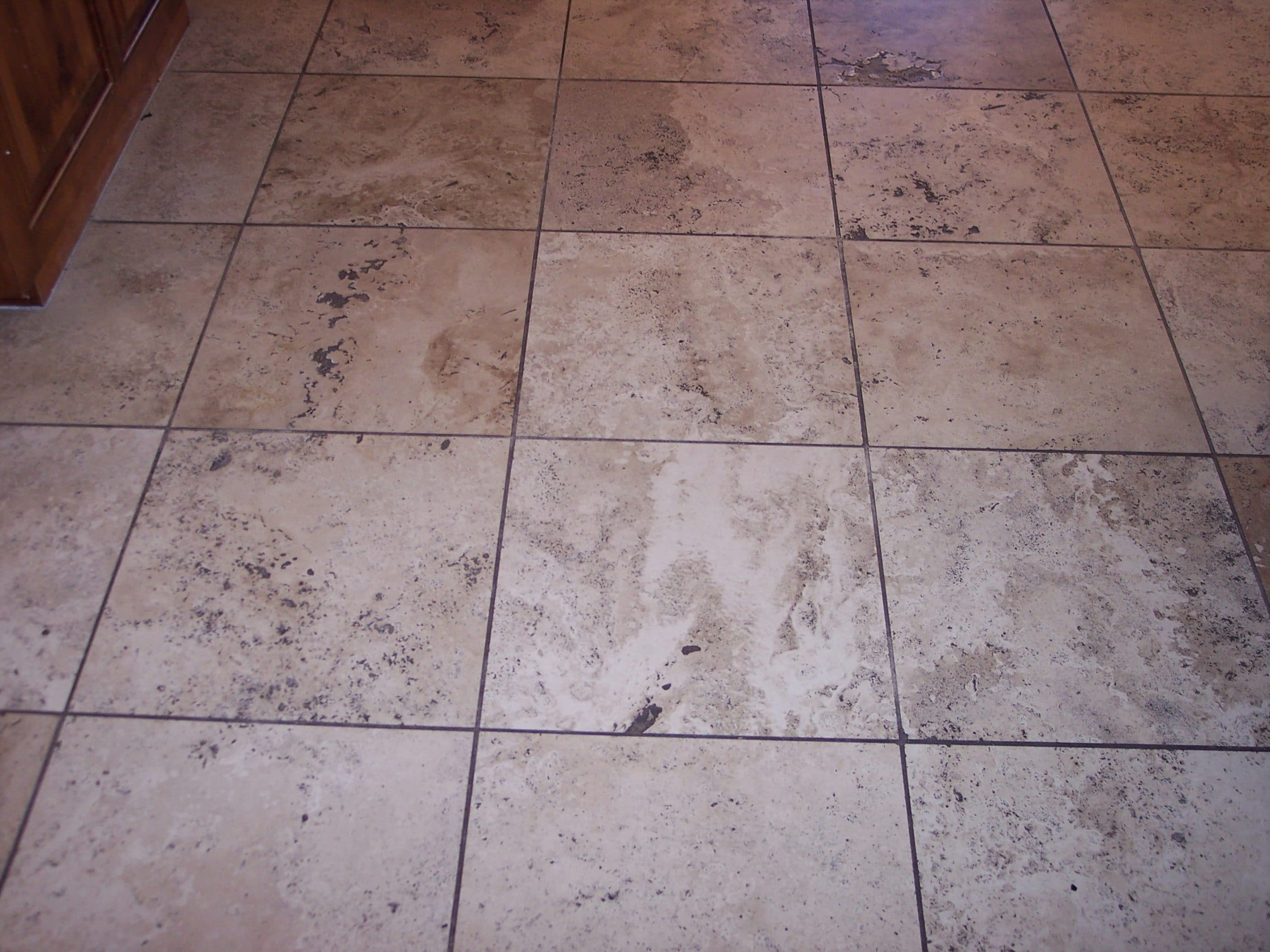 Slate stone tile cleaning desert tile grout care travertine before dailygadgetfo Choice Image
