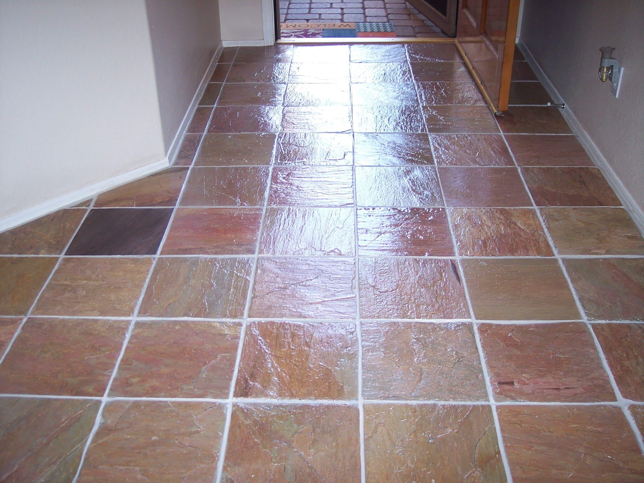 Slate stone tile cleaning desert tile grout care for Floor by floor