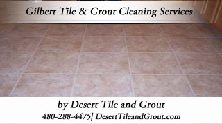 Desert Tile & Grout Care provides Gilbert Arizona residents and businesses with professional tile cleaning services