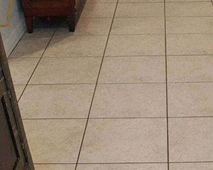 Ceramic Grout Cleaning Before